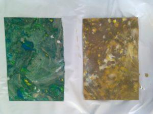 Impresion de pintura en agua 2
